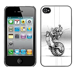 LASTONE PHONE CASE / Slim Protector Hard Shell Cover Case for Apple Iphone 4 / 4S / Wheel Tattoo Ink Art