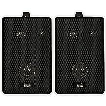 Acoustic Audio 251B Indoor/Outdoor Speakers (Black, 2)