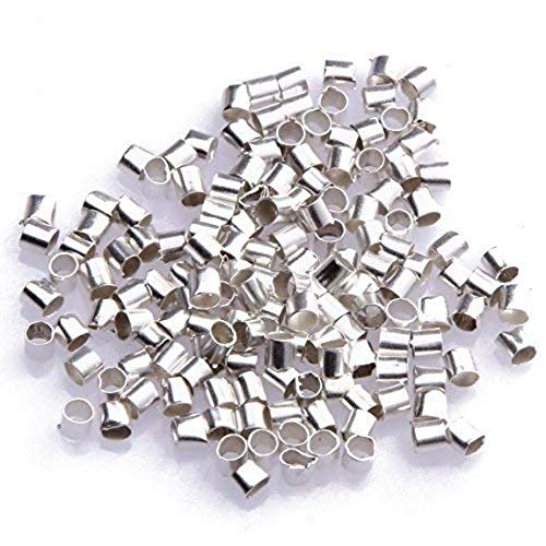 100 Sterling Silver Crimp Tube Beads Beading 2x1mm (Jewelry Tube Beads)