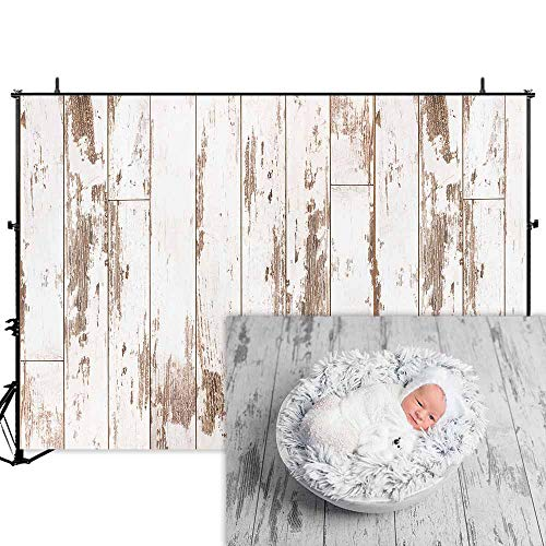 - Allenjoy 7x5ft White Wood Backdrop Rustic Wood Wall Background Wood Floor Photography Backdrops Photographer Props