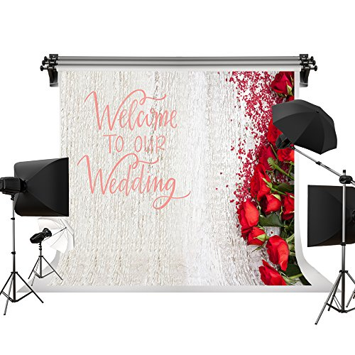Kate 10x6.5ft/3x2m Wedding Backdrop Flowers Photo Backdrops Red Rose Floral Background Wedding Photography Backgrounds Photo Photography Studio Props