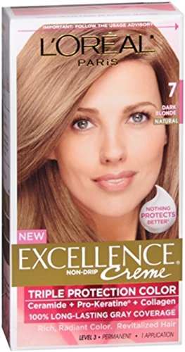 L'Oreal Excellence Triple Protection Color Creme, Dark Blonde/Natural 7 (Pack of 3) -  L'Oreal Paris, PPAX1162055
