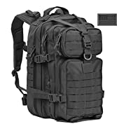 #LightningDeal 91% claimed: Military Tactical Backpack, Assault Pack Army Molle Bug Out Bag Backpacks Rucksack Daypack w/ US Flag Patch