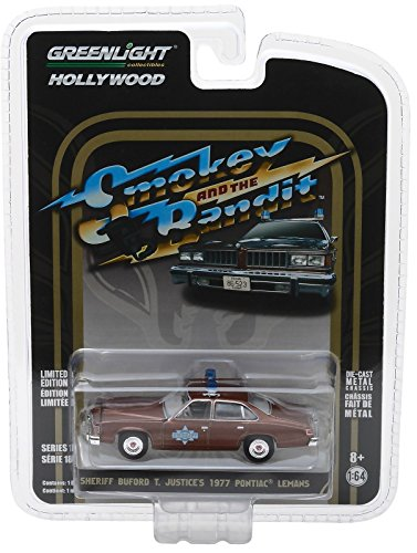 Greenlight 1:64 Hollywood Series 18 - Smokey and The Bandit - Sheriff Buford T Justice's 1977 Pontiac Lemans from Greenlight