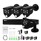 Hodely 8CH 1080P NVR WiFi Set 720P 3.6mm 4-LED Waterproof IP Camera US Plug
