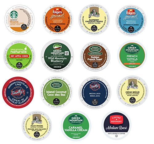Flavored Premium Custom Mix,Variety Pack Coffee Sampler for Keurig Brewers (30 Count) (Sampler Biscotti)