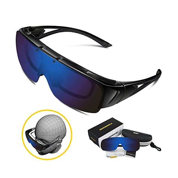 63fbba0716 Torege Flip Up Fit Over Sunglasses with Side Shields Polarized ...
