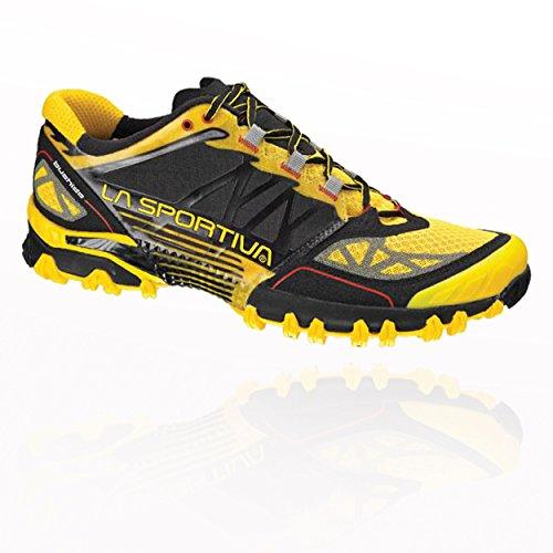 La Sportiva Bushido Trail Running Shoes UK 10.5 Black Yellow