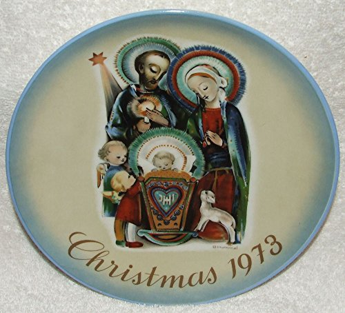 (1973 Christmas Plate Limited Edition Schmid Portraying Works of Berta Hummel)
