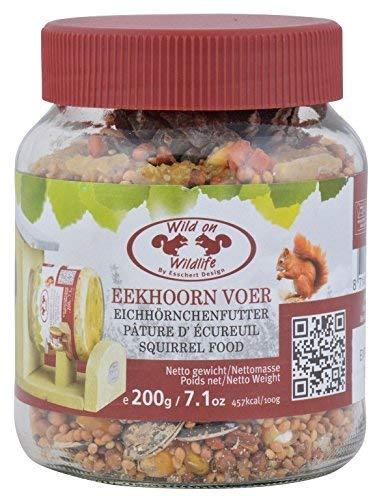 SIDCO Eichhörnchenfutter Eichhörnchen Erdnussbutter Nüsse Futtermischung Nachfüllglas