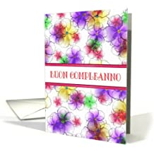 Italian Happy Birthday (Buon Compleanno) Candy Flowers Birthday Greeting Card