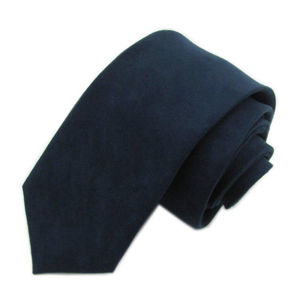 Men Boy Autumn Navy Skinny Tie Ultra Slim Business Sharp Handsome Washed Necktie