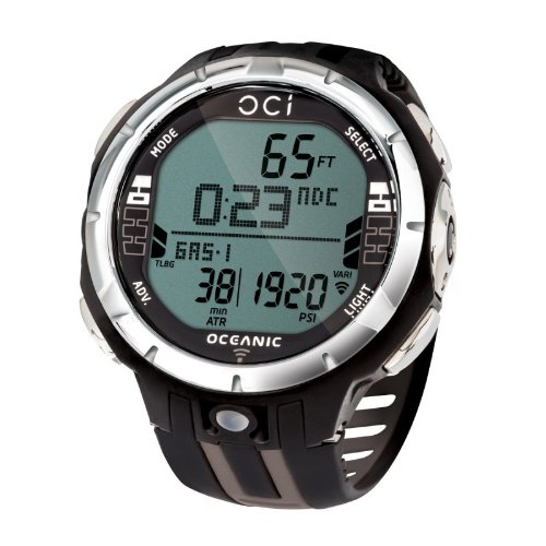 Oceanic OCi Wireless Dive Watch Computer - Watch Only For Scuba Diving - Titanium - Dive Watch Compass
