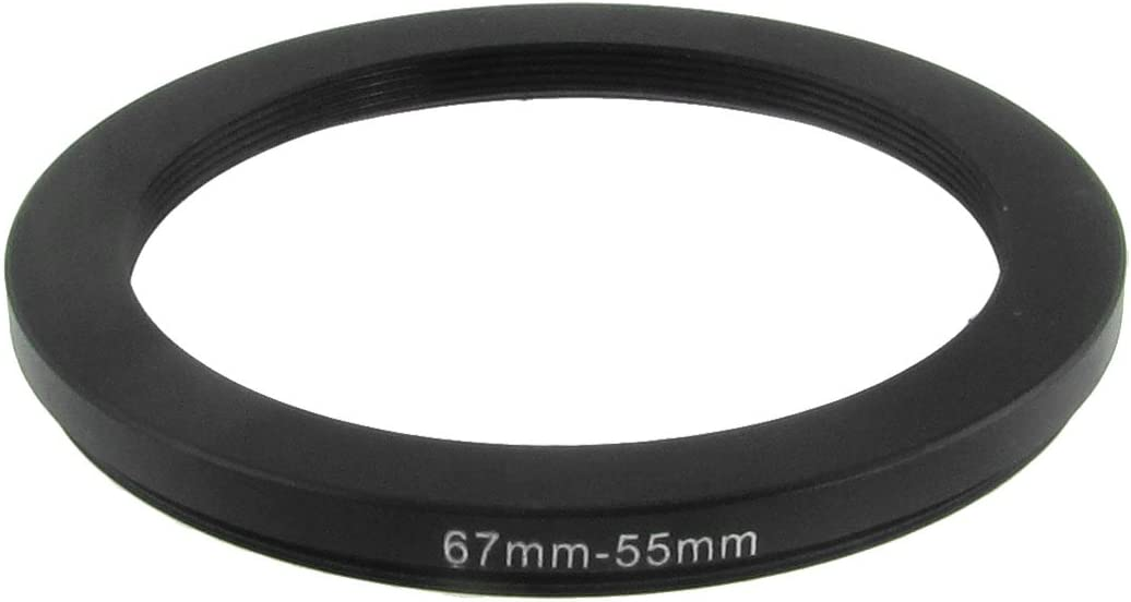 uxcell 67mm-55mm 67mm to 55mm Black Step Down Ring Adapter for Camera