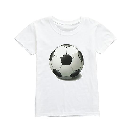 🍓Camiseta Lonshell Copa Mundial de Fútbol Infantil set Imprimir Top corta manga Camiseta linda algodón