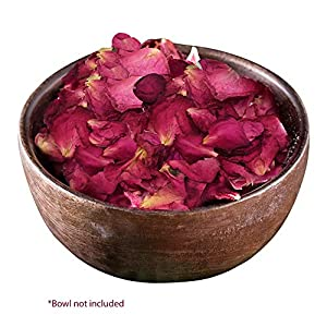 Kaba Flair Preserved Dried Rose Petals - Biodegradable - Made of Real Rose Buds - Decoration for Valentine's Day - Packed in Kraft Paper - Gives Romantic Feel When Used for Decorating 107