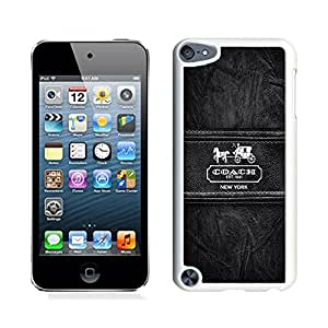 Unique Coach iPod Touch 5 Case ,Popular And Durable Designed Coach 86 White iPod Touch 5 Cover Case High Quality Phone Case