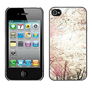 Soft Silicone Rubber Case Hard Cover Protective Accessory Compatible with Apple iPhone? 4 & 4S - sun spring cherry blossom flowers apple
