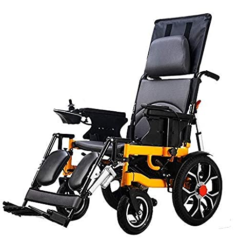 Silla de ruedas eléctrica Plegable Plegable Ligero Ancianos ...