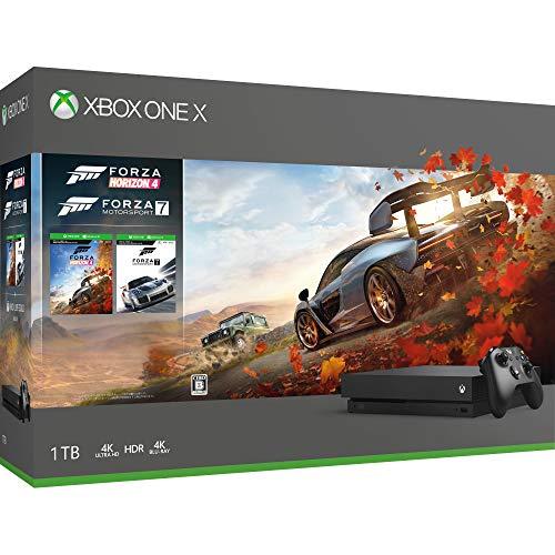 XboxOne X本体 1TB(Forza Horizon 4/Forza Motorsport 7 同梱版)の商品画像