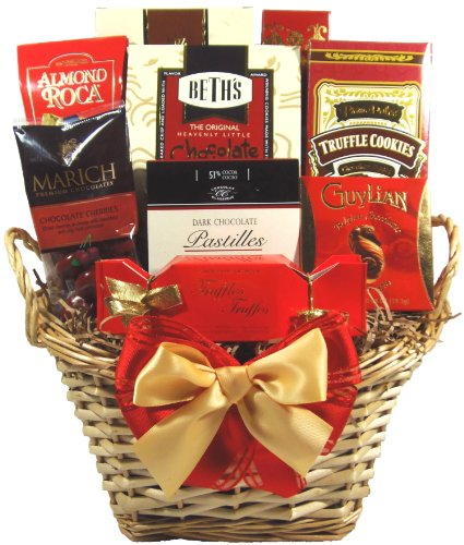 Delight Expressions Say It with Chocolates Gourmet Gift Basket - Mother's Day Gift Idea! (Easter Baskets For Men)