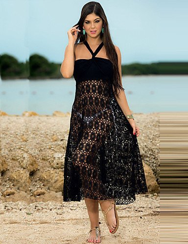 skt-swimwear Hohe Qualität Trägerlos Solide Beach Kleid New Sommer lang Strand Tunika Hot Verkauf Spaghettiträger Strand tragen