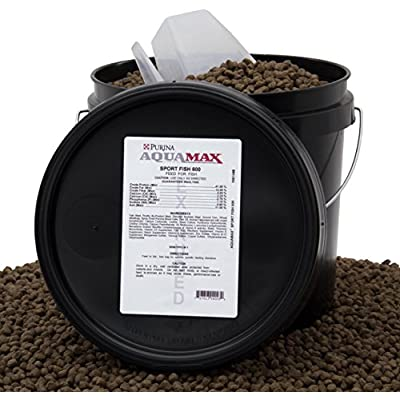 Click for Purina Mills AquaMax Sport Fish 600 , High Protein, High Energy, 7.1mm Extruded Floating Pellets For Trout, Hybrid Striped Bass, And Many Other Carnivorous & Omnivorous Species, 8lbs(3.6kg)