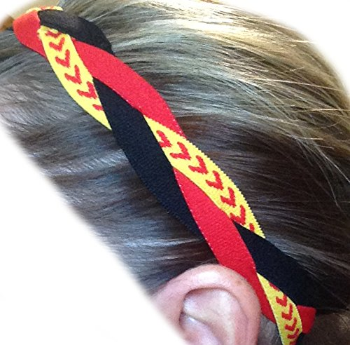 It's Ridic! No Slip Grip /Non-Slip Sports / Athletic Nylon Triple Braided Sports Headband