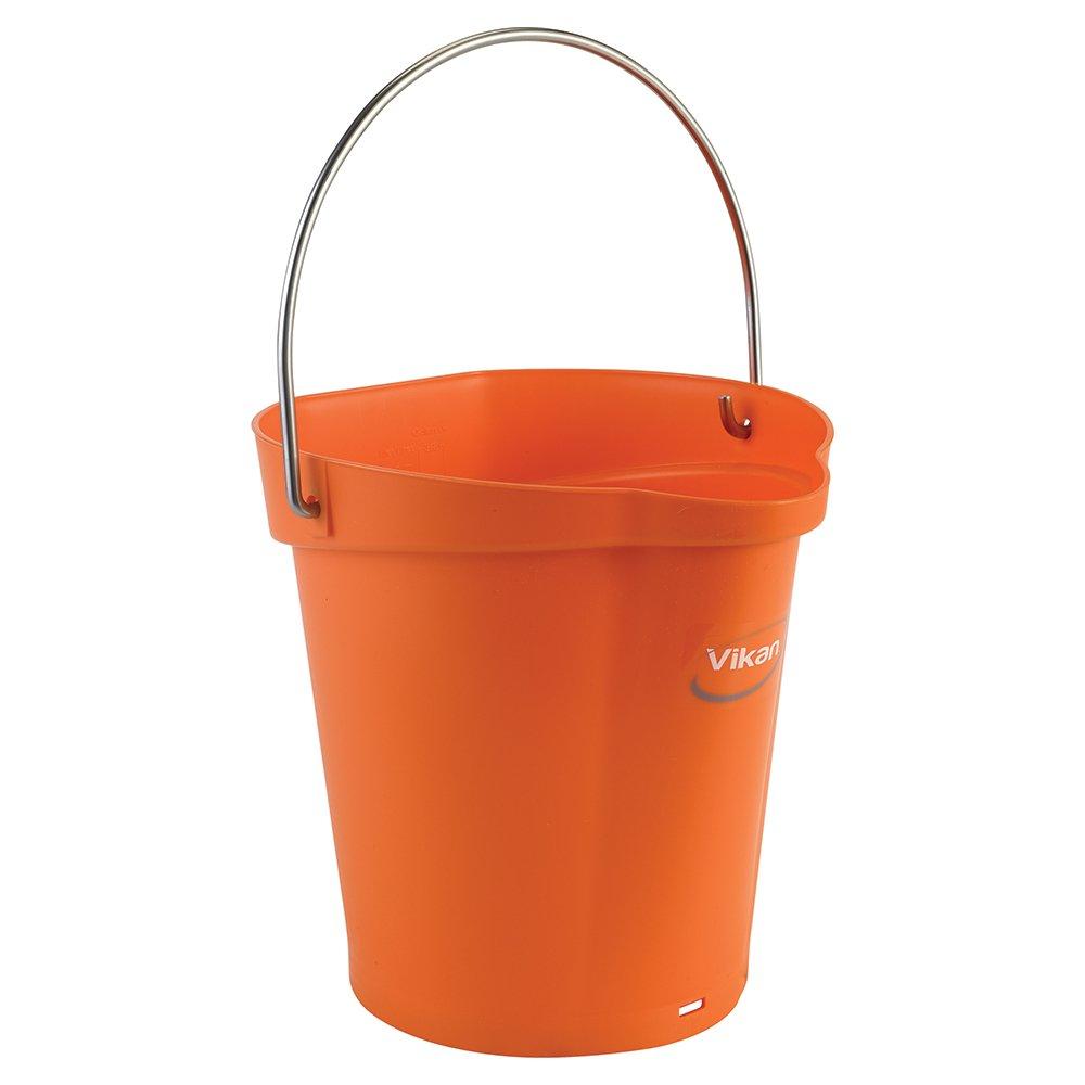 Vikan Polypropylene Orange 1.5 Gallon Pail