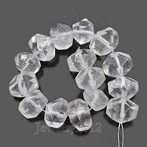 FidgetGear Natural Faceted Gemstones Rondelle Nugget Freeform Beads 8