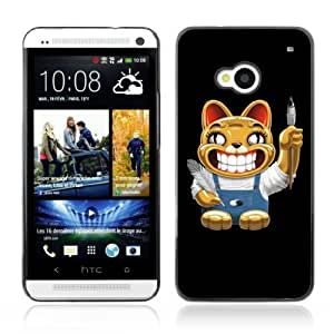 Lmf DIY phone case [Funny Cat ] HTC One M7 CaseLmf DIY phone case