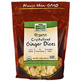 NOW Foods Organic Crystallized Ginger Dices 16 oz (454 g) Pkg