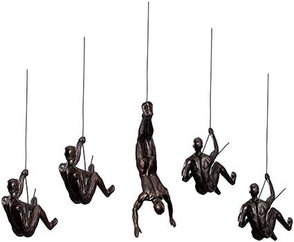 Estatuas Tao 5pcs nórdica Resina Escalada Escultura Hombre de ...