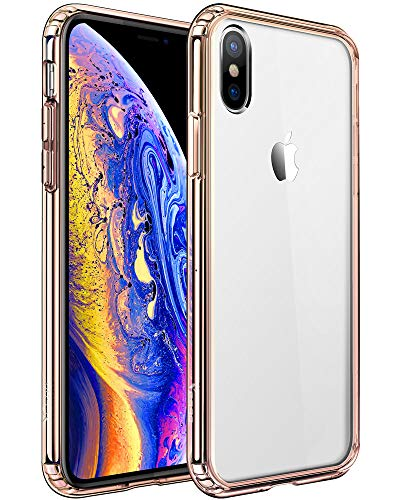Mkeke Clear Anti-Scratch Shock Absorption Cover Case Compatible with iPhone Xs and X - Grey