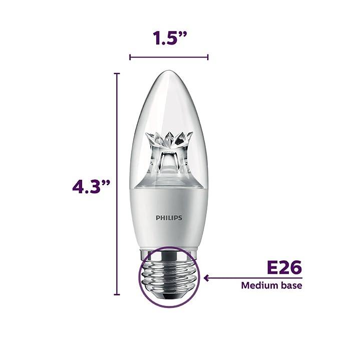 Amazon.com: Philips - Bombilla LED regulable de luz blanca ...