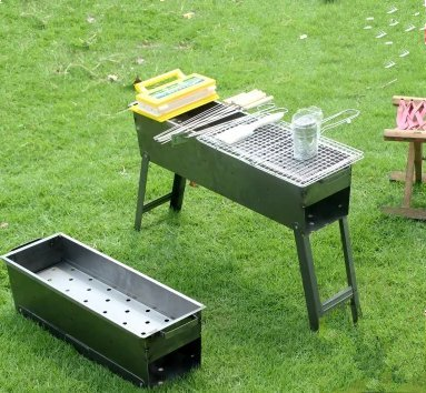 Grill Barbecue Outdoor Home Folding Portable Charcoal Thicker Oven