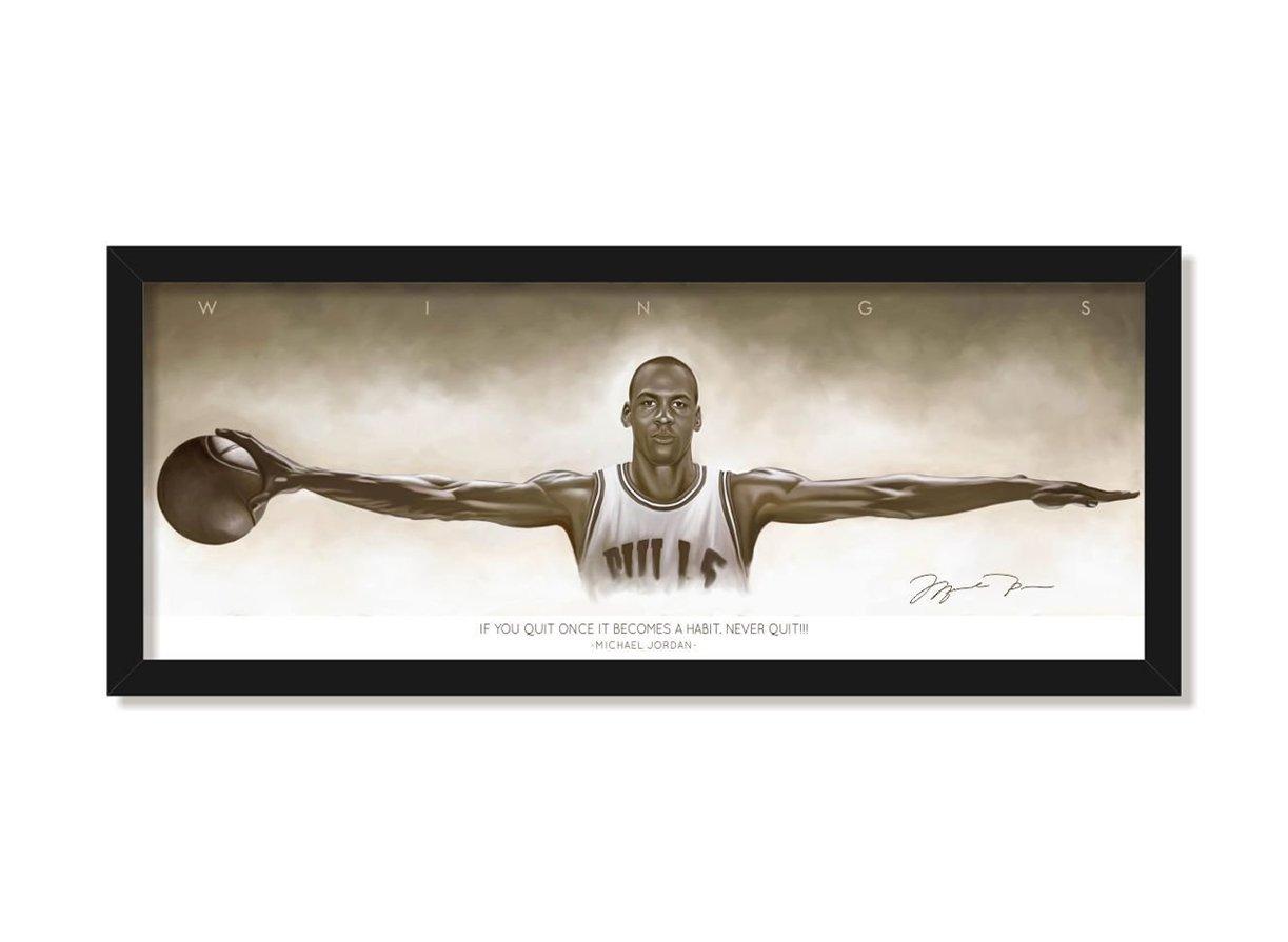 Lab No. 4 Michael Jordan Famous Basketball Sports player Wings ...