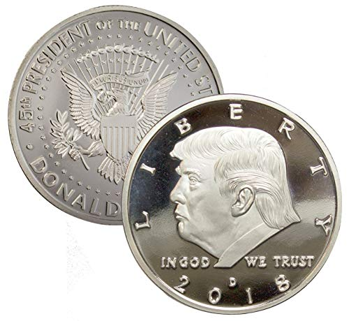 Donald Trump Challenge Coin 2018,2017 - Gold, Silver Plated Collectable Coin in The Commemorative Collectors Edition Series. Stunning Proof Like Coins. Designer Coin for Presidential Mi(2018 Silver) (Best Ipad Games For Kids Under 5)