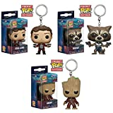 Pop KeyChain! Movies: Guardians of the Galaxy 2 Star-Lord, Rocket and Groot! Set of 3