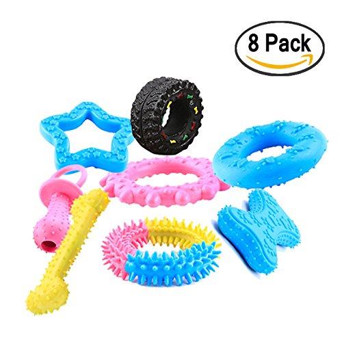 Cachorro juguetes, mini DENTAL CHEW Toys Bundle (set de 8) mejor masticar juguetes para cachorros y perros peque?os.Para la denticion y activamente los cachorros y perros peque?os Martians