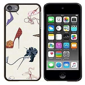 Planetar® ( Stiletto Diseño de Moda Zapatos Púrpura ) Apple iPod Touch 6 6th Touch6 Fundas Cover Cubre Hard Case Cover