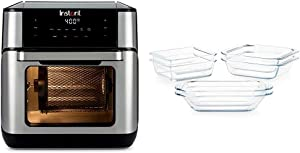 Instant Vortex Plus Air Fryer Oven 7 in 1 with Rotisserie, with 6-piece Pyrex Littles Cookware