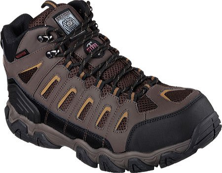Skechers Men's Work Blais Bixford Steel Toe Boot,Dark Brown,
