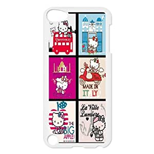 Hello Kitty Cartoon Productive Back Phone Case FOR Ipod Touch 5 -Pattern-15