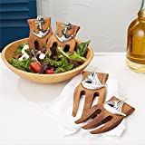 Two's Company Set of Two Acacia Wood Salad Hands (Anchor)