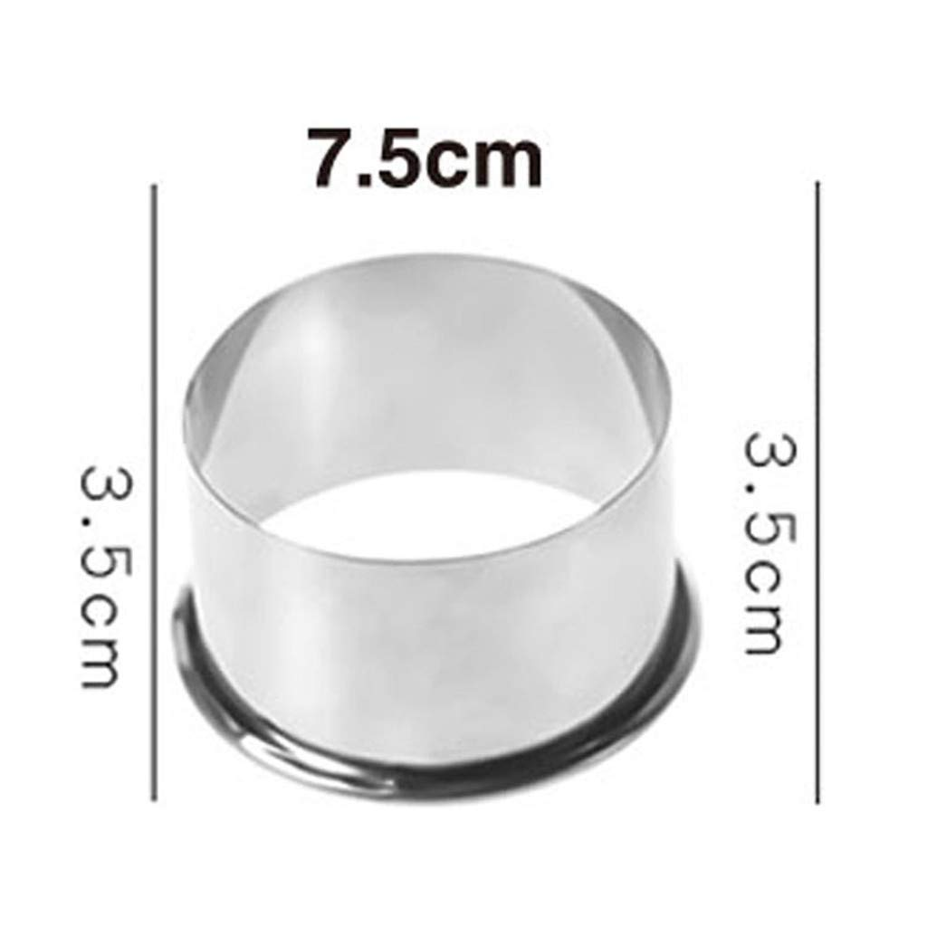Vacally Eco-Friendly Pastry Tools Stainless Steel Dumpling Maker Dough Cutter Round Biscuit Mould Kitchen Tools