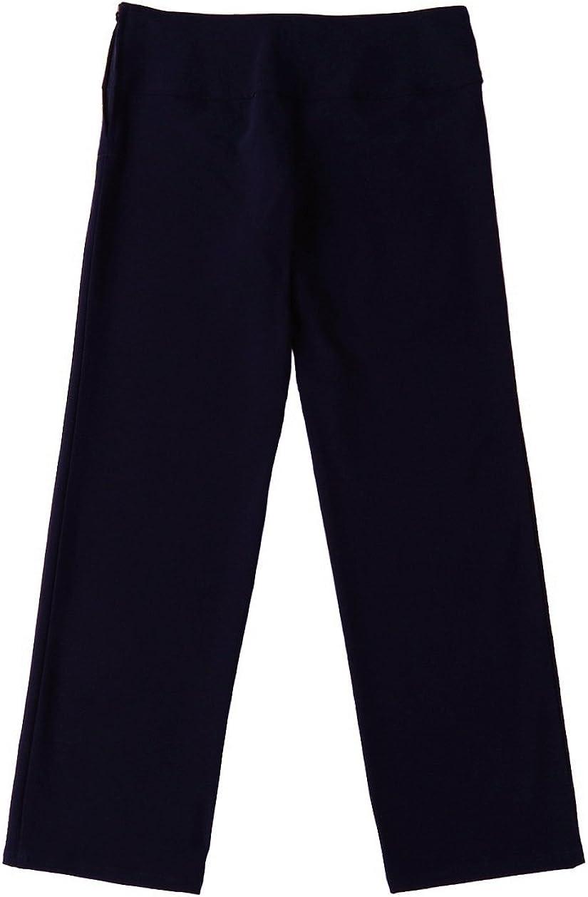Bienzoe Boys School Uniforms Stretchy Polyester Adjust Waist Trouser