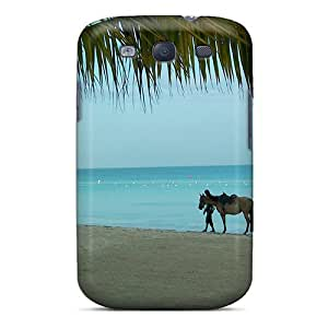 High-end Case Cover Protector For Galaxy S3(horse On The Beach)