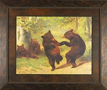 Dancing Bears William Beard 28×22 Image Size, 39×33 Overall Size Gallery Quality Framed Art Print Picture Painting Animals Wildlife