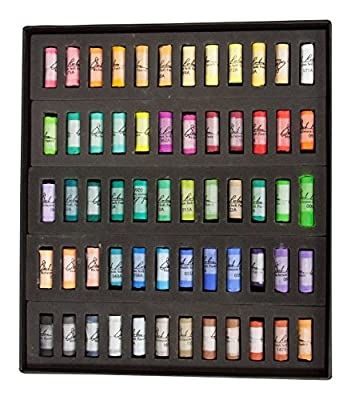 Jack Richeson Richeson Signature Assorted Round Half Stick Pastels (Set of 60)